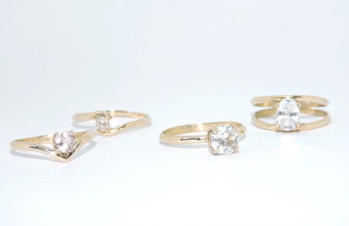 Image of double band zircon ring