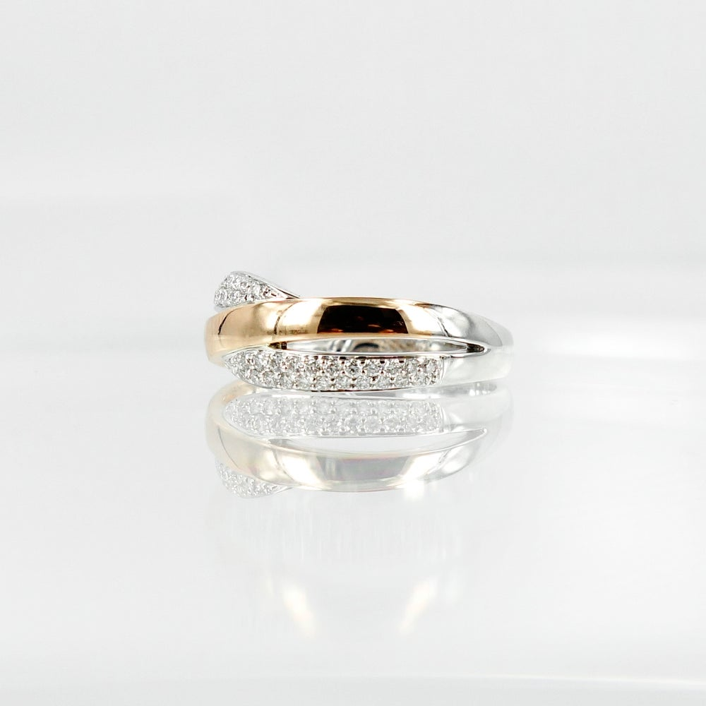 Image of PJ5461 - 14ct Two tone and diamond cocktail ring