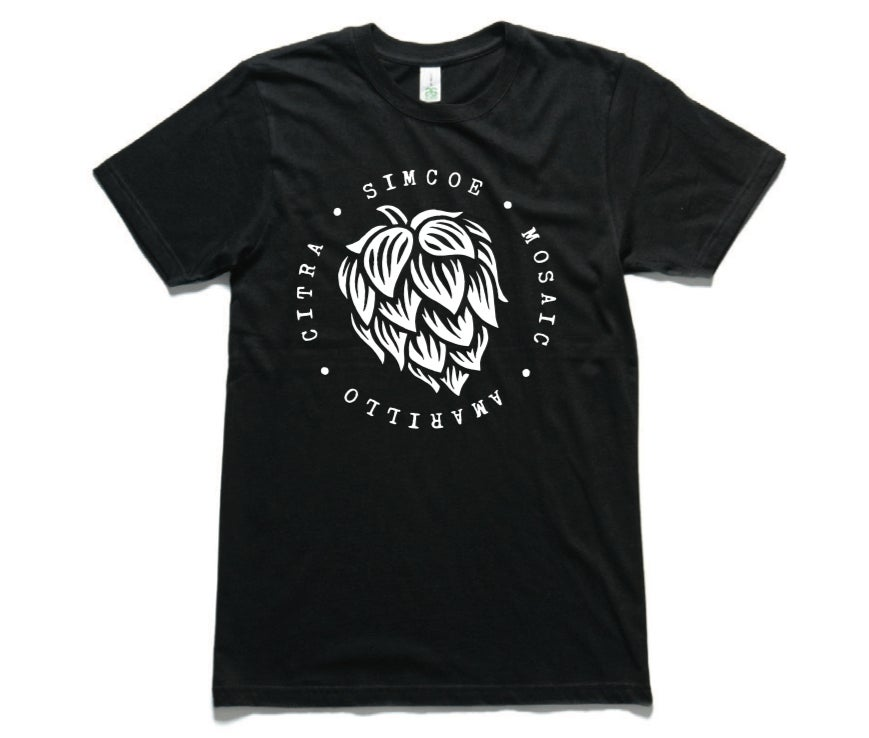 Image of Fixation Hop Varieties tee - black