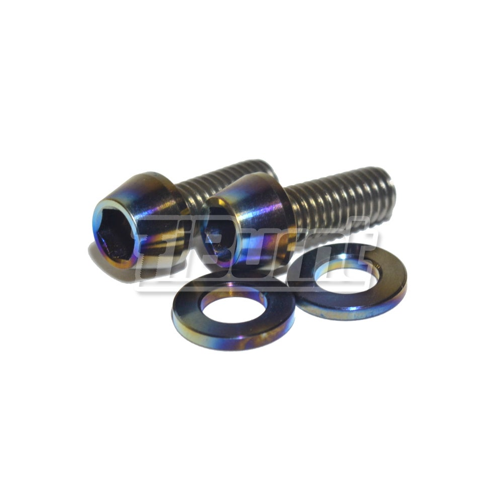 Image of TiBurnt Titanium License Plate Screw Kit