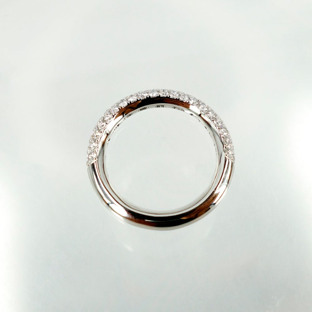 Image of PJ5450 - 14ct white gold diamond pave eternity ring