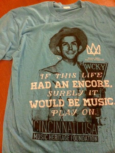 Image of Hank Williams, James Brown, Syd Nathan and Cowboy Copas Theme T-Shirts