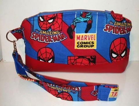 Image of Spiderman Curved Wristlet