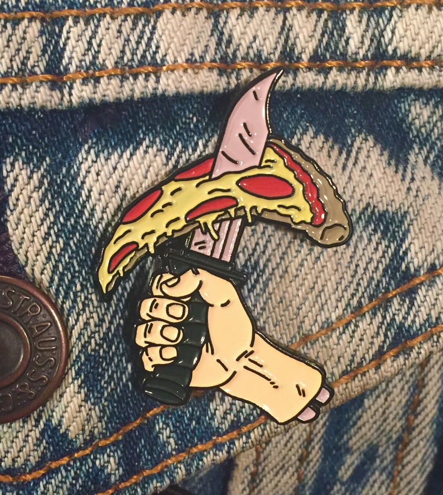 Image of Pizza Warrior Soft Enamel Pin