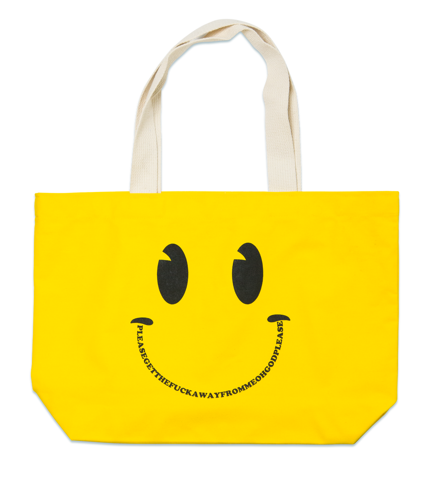 Image of Oh God tote bag & USB drive, Yellow
