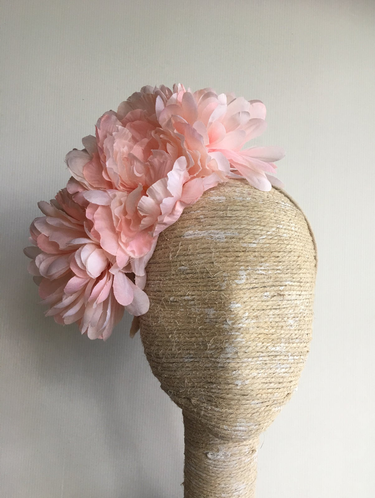 Pale Pink Flower Headpiece Meredith Mcmaster Millinery