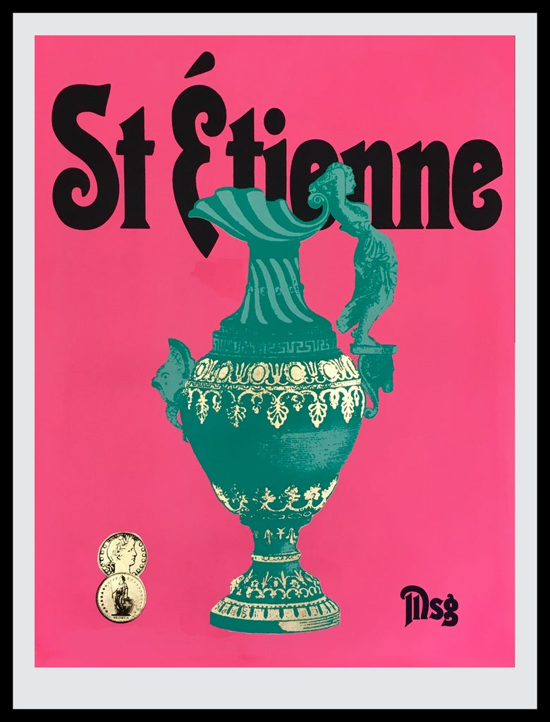 Image of St Etienne Hot Pink/Aqua/Black