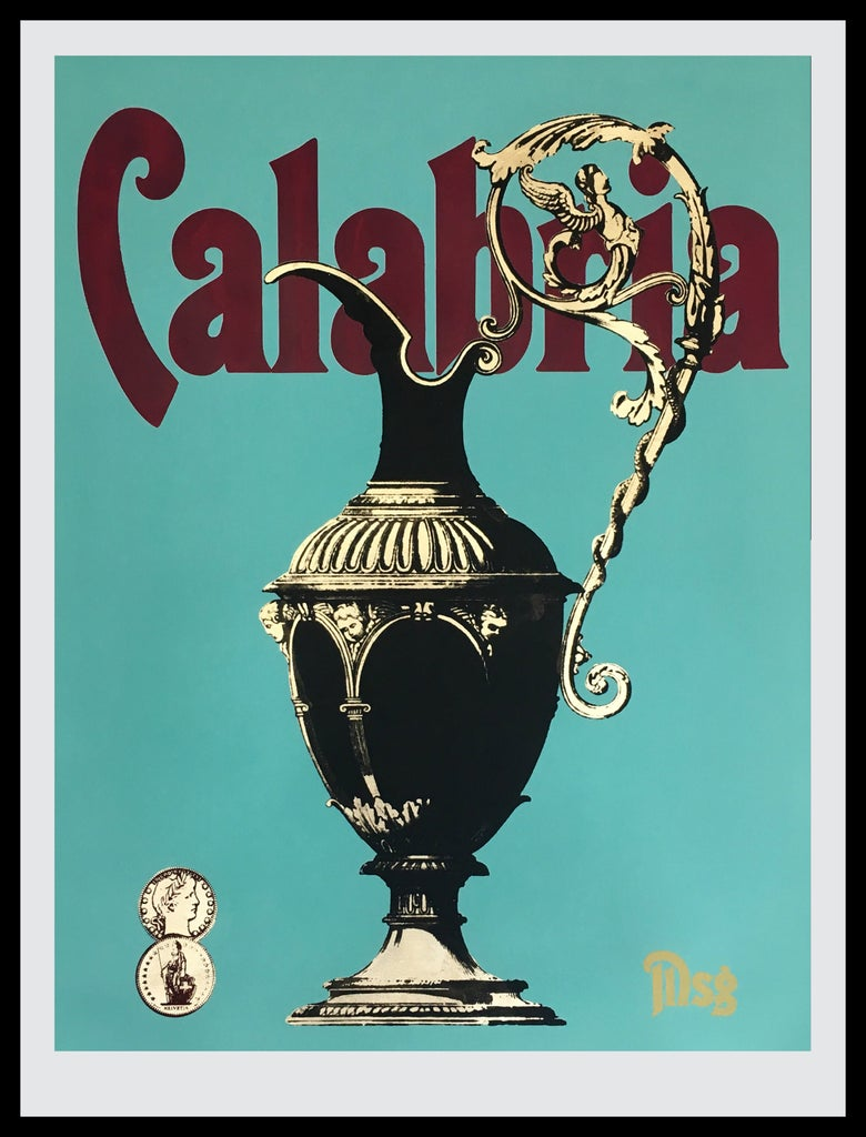 Image of Calabria Aqua/Magenta/Black -In stock