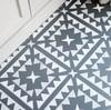 Hammam Floor Stencil for floors, walls, furniture and fabric. Moroccan stencil.