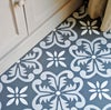 Fes Floor Stencil for floors, walls, furniture and fabric. Moroccan stencil.