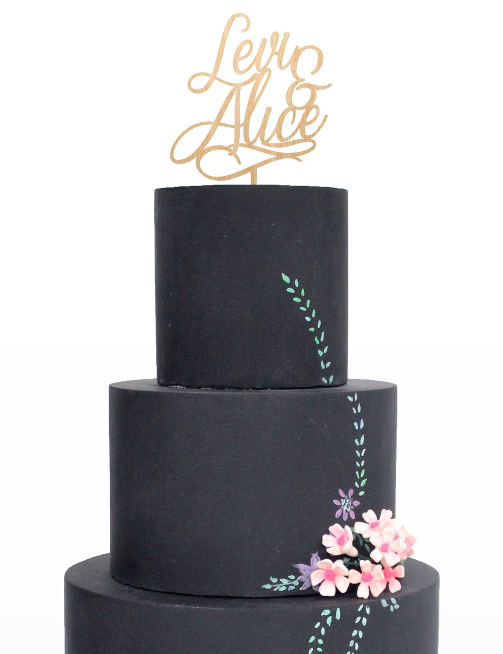Image of Double Name Script Cake Topper
