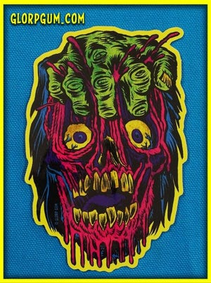 Gory Ghoul Sticker: FIST FACE
