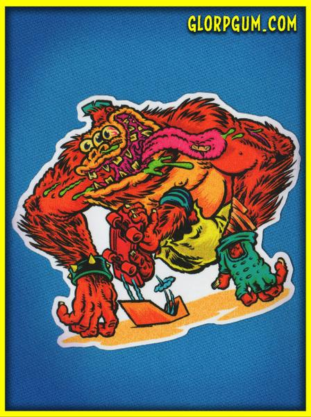 Image of 1980's GLORP Skate Ape Sticker