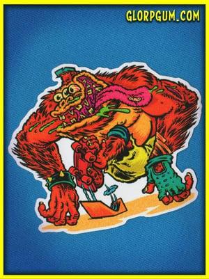 1980's GLORP Skate Ape Sticker
