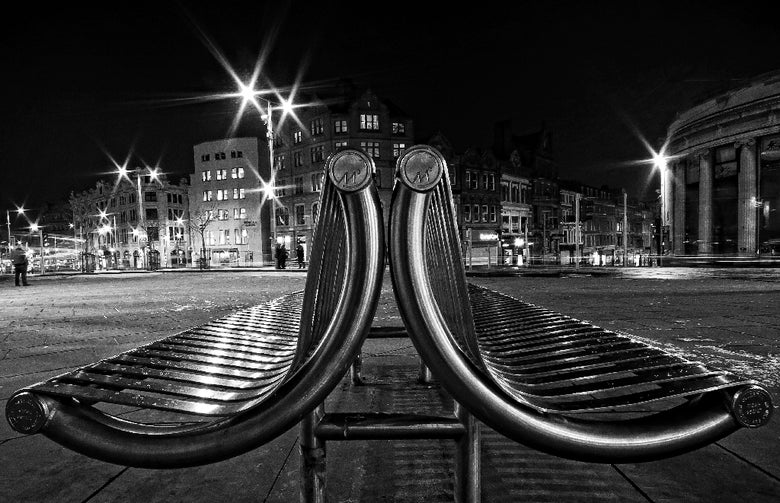 Image of Chrome benches