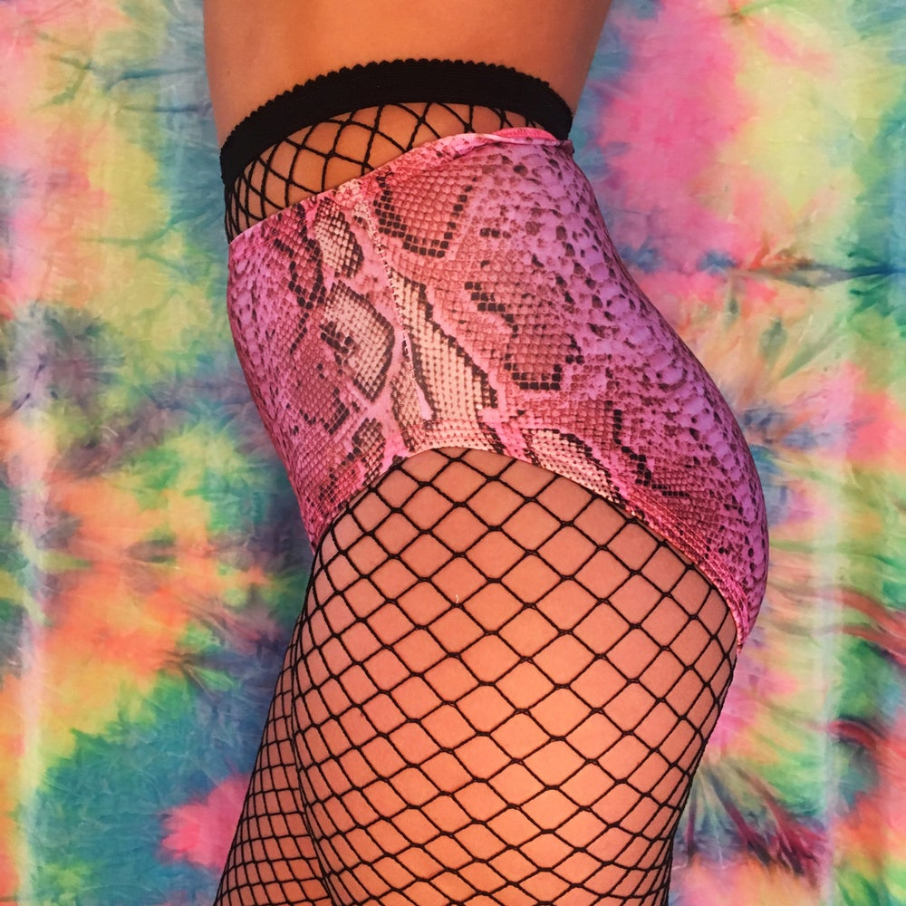 Image of Pink Snake Skin Play Shorts