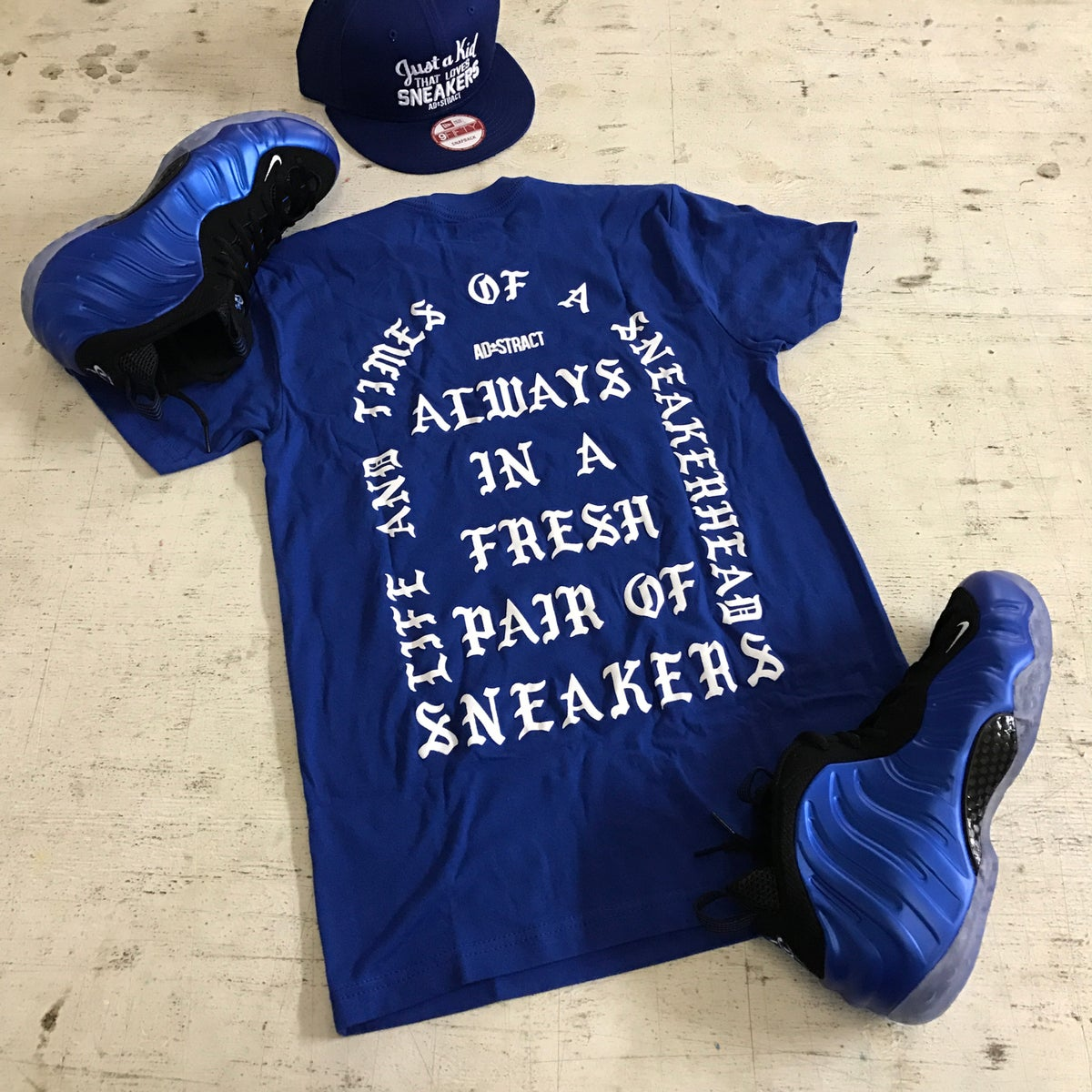 """Image of I AM A SNEAKERHEAD """"ROYAL/WHITE"""" T-SHIRT OR HOODY"""