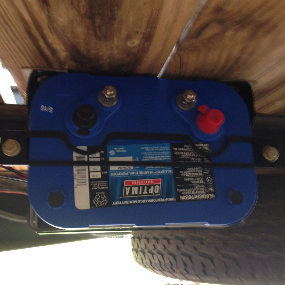 Image of Optima Top or Side Post Battery Tray  - with Extra Side Strap