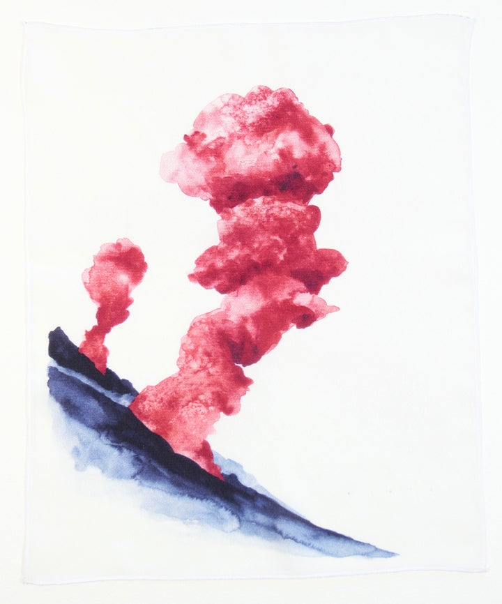 Image of Eruption 5 Silk Print