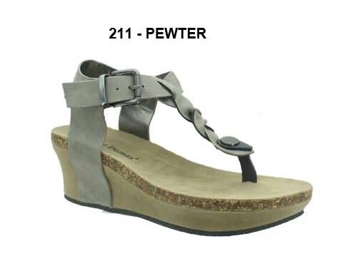 faba8f7d02ed Image of Girls  Pewter Chic Braided Thong Wedge