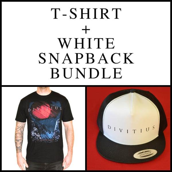 Image of T-Shirt + White Snapback Bundle