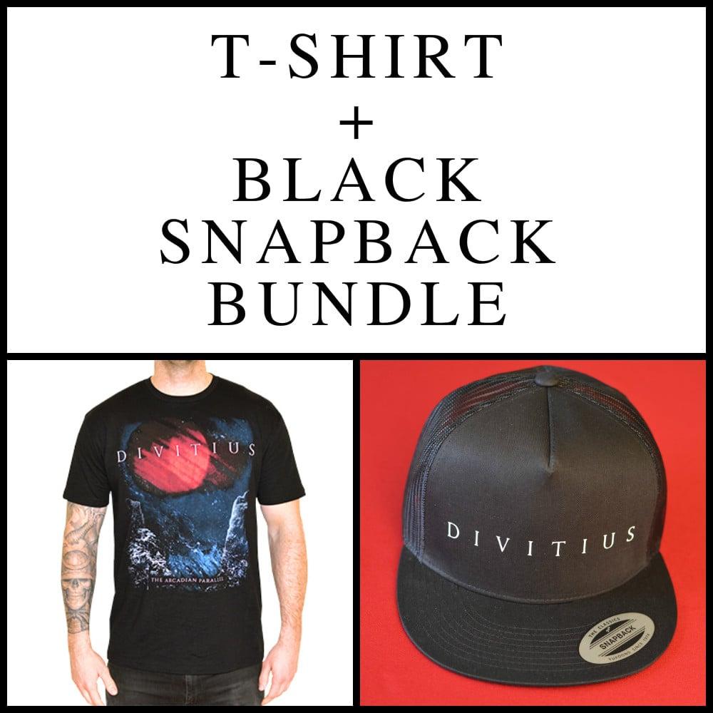 Image of T-Shirt + Black Snapback Bundle