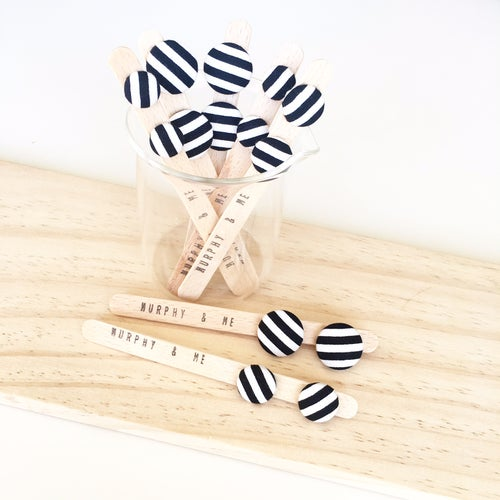 Image of Licorice Stripe Earrings (12mm, 15mm & 19mm)