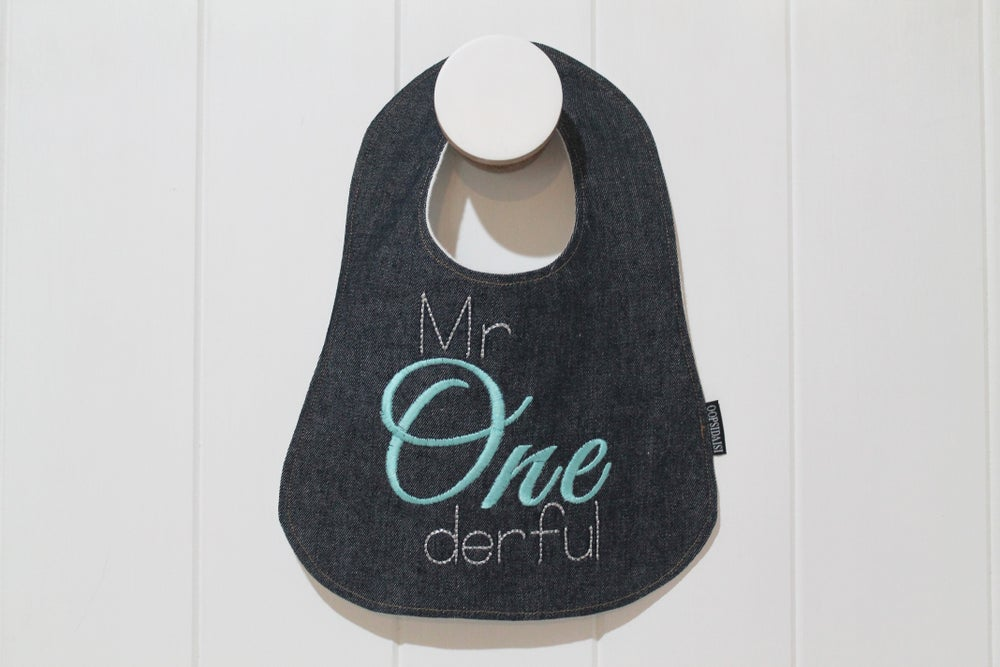 Image of First Birthday Bib - Mr Wonderful