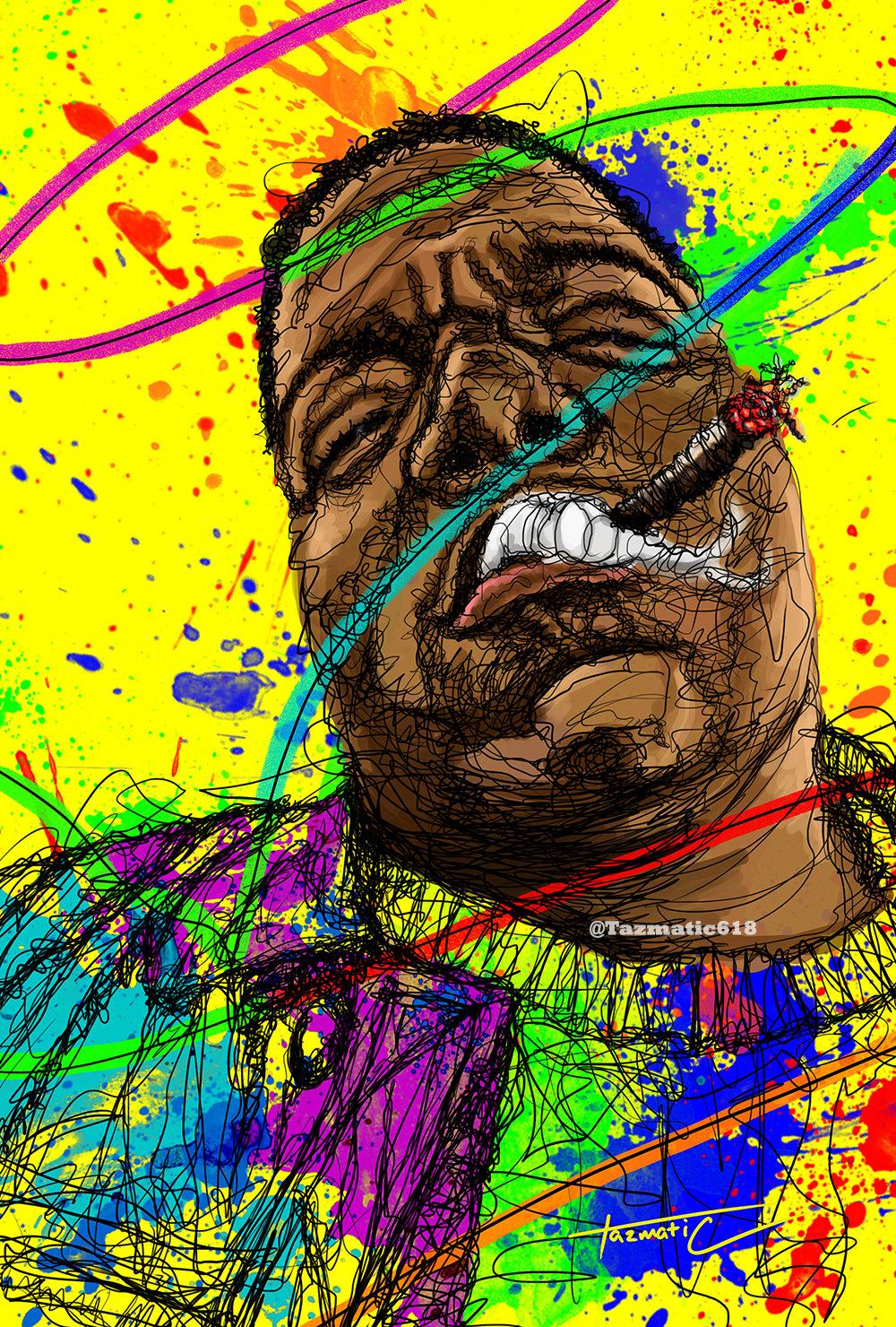 "Image of Biggie ""Gun Smoke"" Scribble (PRINTS ONLY)"