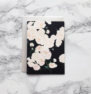 Image of White Peonies - Mini greeting card