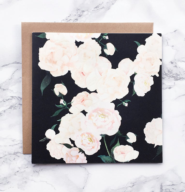 Image of White Peonies - Large greeting card