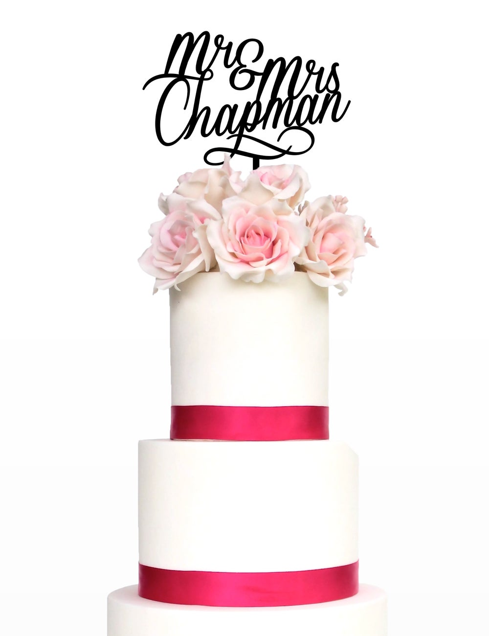 Image of Double Name Calligraphy Cake Topper