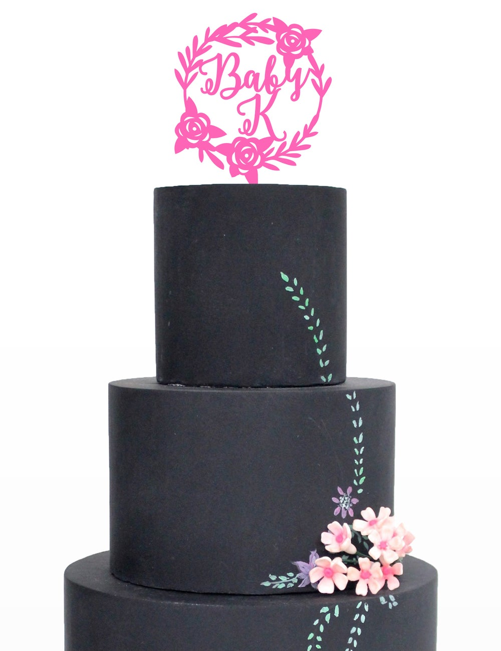 Image of Baby 'Initial' Cake Topper