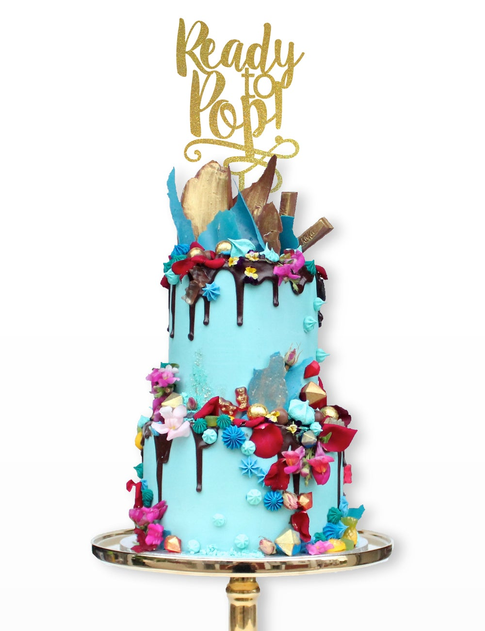 "Image of ""Ready to Pop"" Cake Topper"