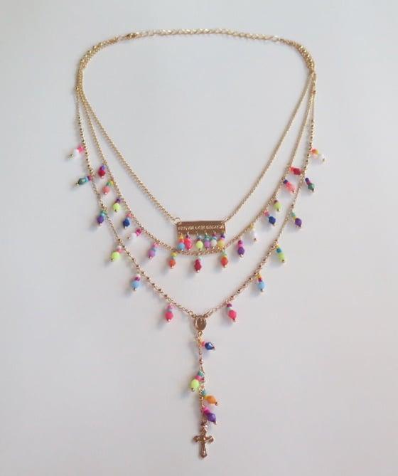 Image of Disfruta Cada Momento Multicolor Rosary