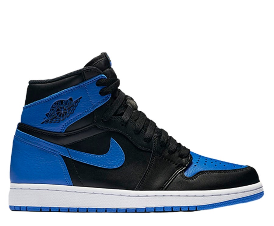 "Image of NIKE AIR JORDAN 1 RETRO HIGH OG ""ROYAL BLUE"" 555088-007"