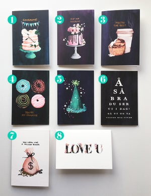 Image of 3 medium sized cards of your choice