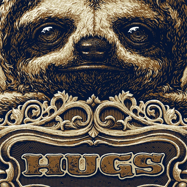 "Image of ""Hugs"" limited edition screenprint"