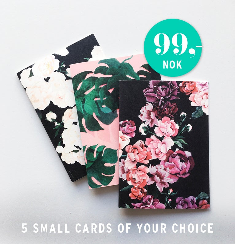 Image of 5 small cards of your choice