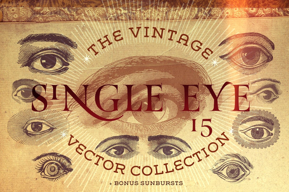 Image of The Single Eye Vector Collection
