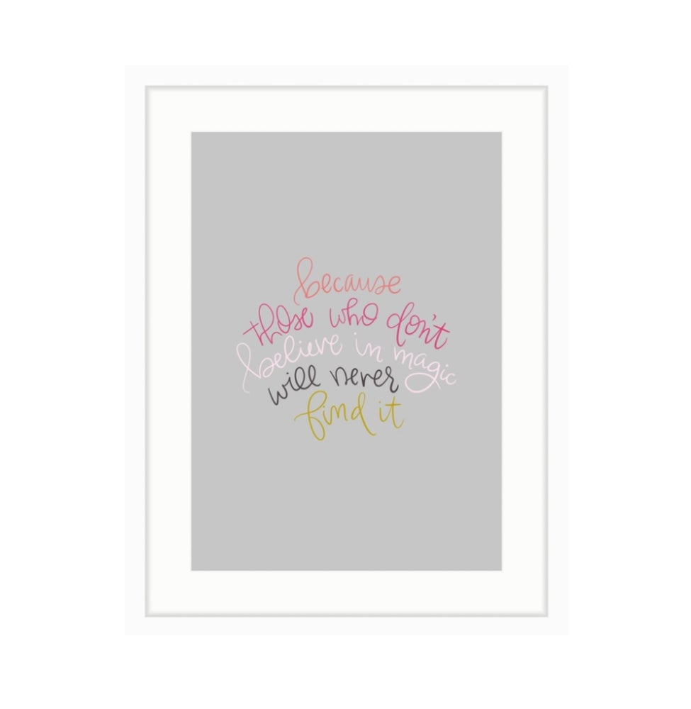 Image of Roald Dahl Print 1 // Color on Grey