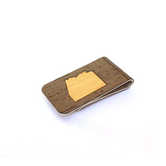 Image of TIMBER Wood Skin Money Clip : Arizona State Edition Free US Shipping