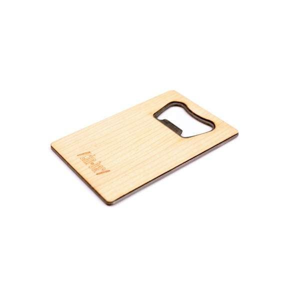 Image of TIMBER Wood Skin Wallet Bottle Opener: Clover Edition Free US Shipping