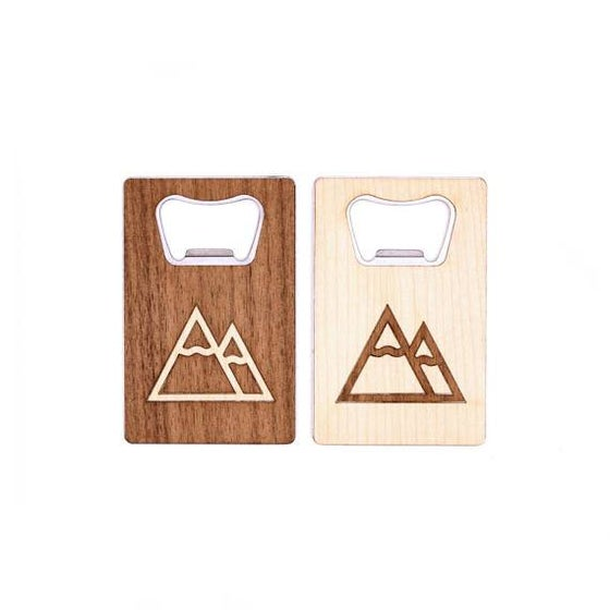 Image of TIMBER Wood Skin Wallet Bottle Opener: Summit Edition Free US Shipping