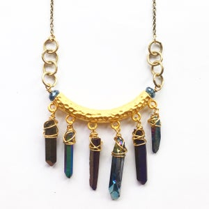 Image of Queena Necklace - Rainbow Quartz Crystal *LIMITED EDITION*
