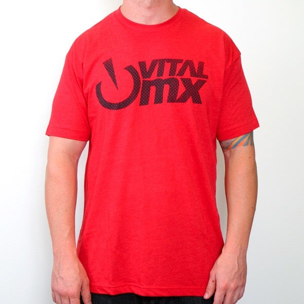 Image of Vital MX Vents Logo T-Shirt, Red