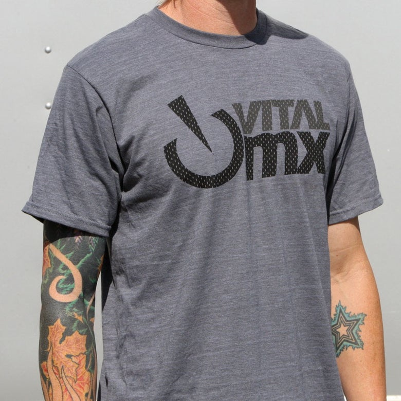 Image of Vital MX Vents Logo T-Shirt, Charcoal Heather