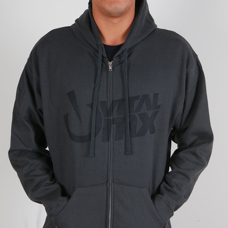 Image of Vital MX Vents Logo Hoody, Charcoal