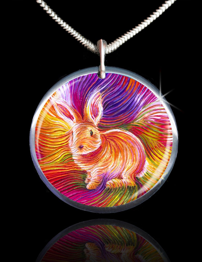 Image of Bunny Love Energy Pendant