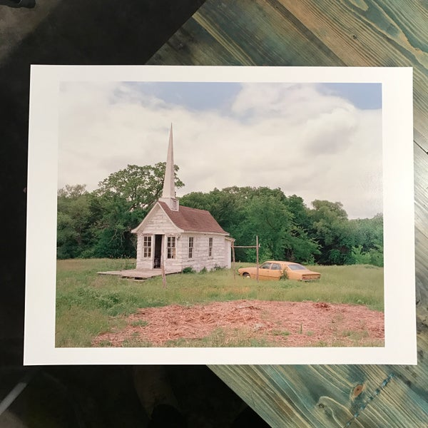 Image of chapel and car (17x22)